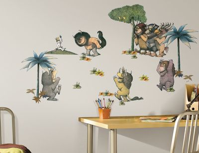 Where The Wild Things Are Peel U0026 Stick Wall Decals Wall Decal    AllPosters.co