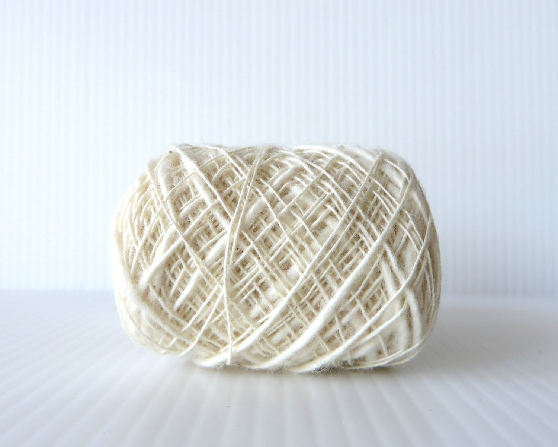 Habu Cotton Nerimaki Slub In Natural White N 46 24gm Cotton