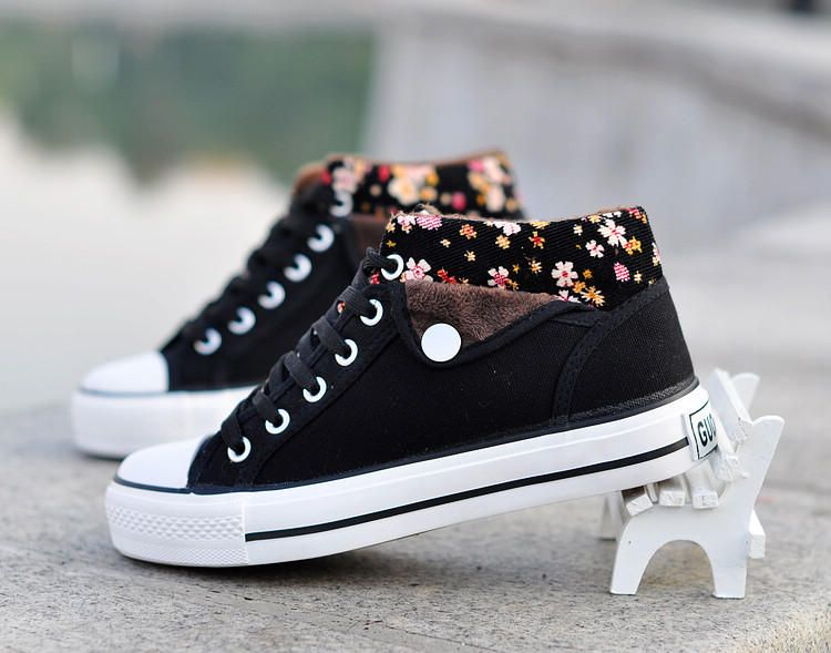 Floral Trim Sneakers - Stylefeet | YESSTYLE