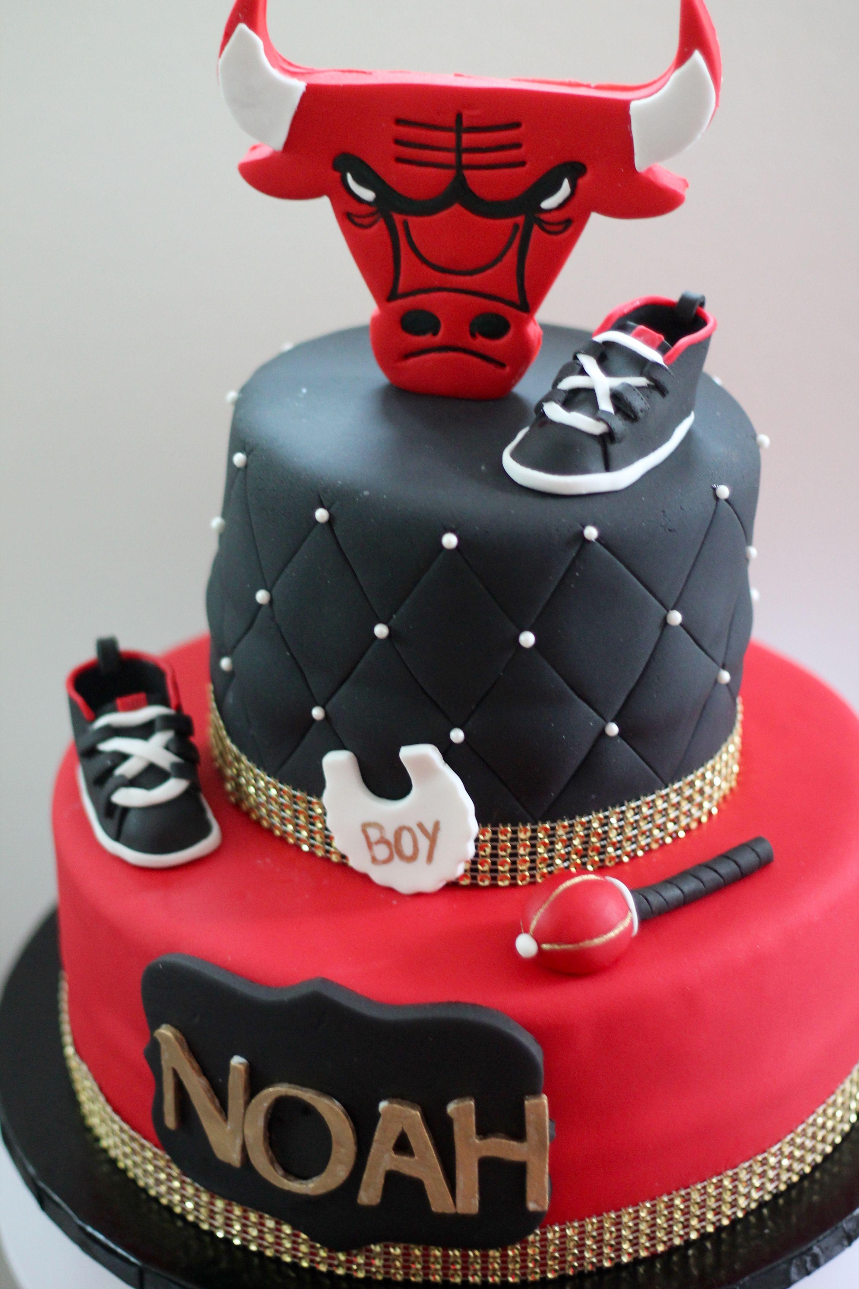 Royal Chicago Bulls Cake Baby Showers Pinterest Chicago Bulls