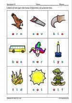 Ni Stavekort Med Billeder Og Ord Pa Tre Bogstaver Undervisning Skole Ideer Skole