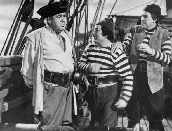 Charles Laughton Lou Costello And Bud Abbott In Abbott And