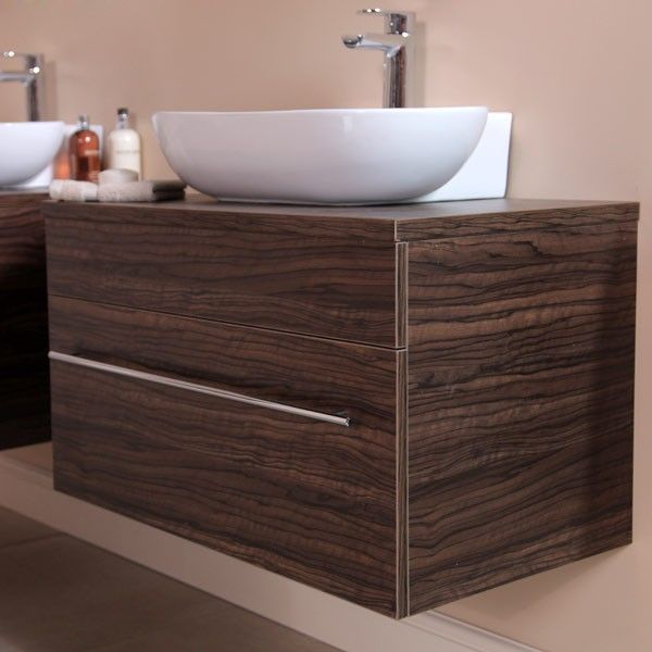 139 95 Aspen 750 Wall Mounted Walnut Cabinet With Basin