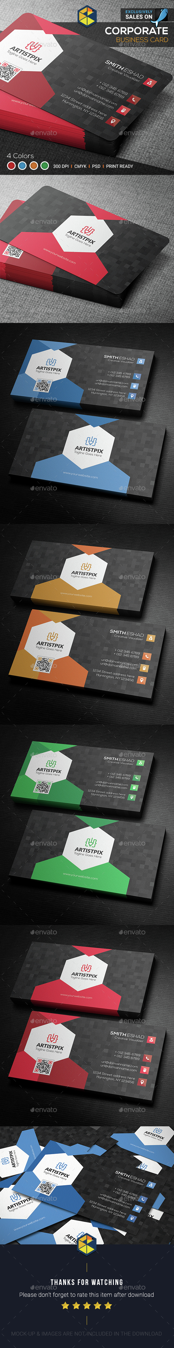 Hexagon Shaped Business Card Template PSD. Download here: http ...