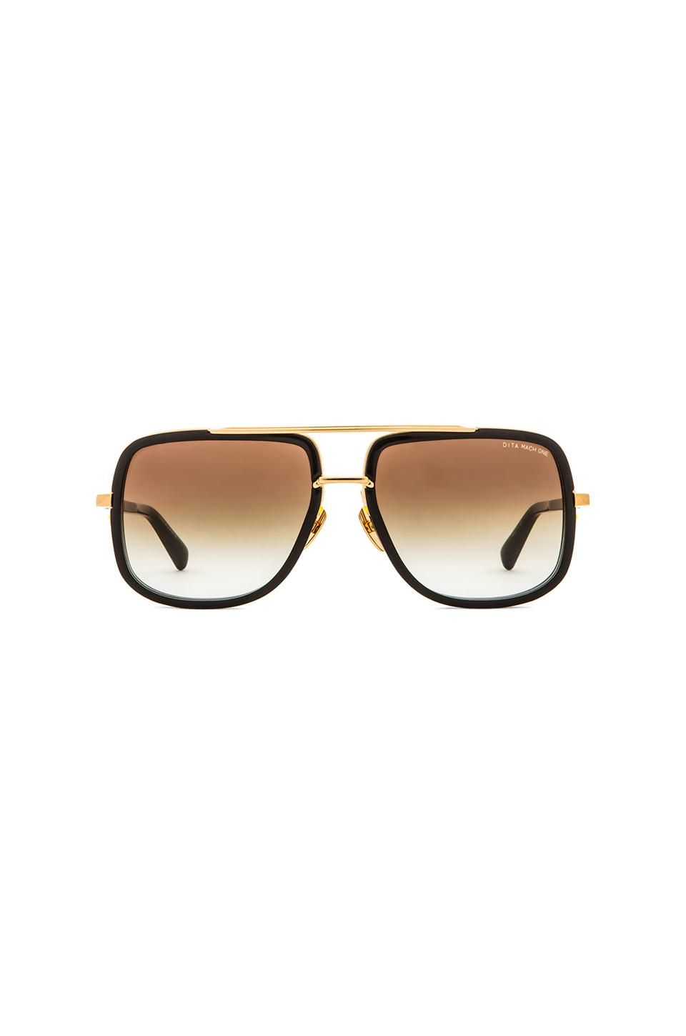 c16cc39890 Dita Mach-One Sunglasses in Shiny 18K Gold   Brown Lenses