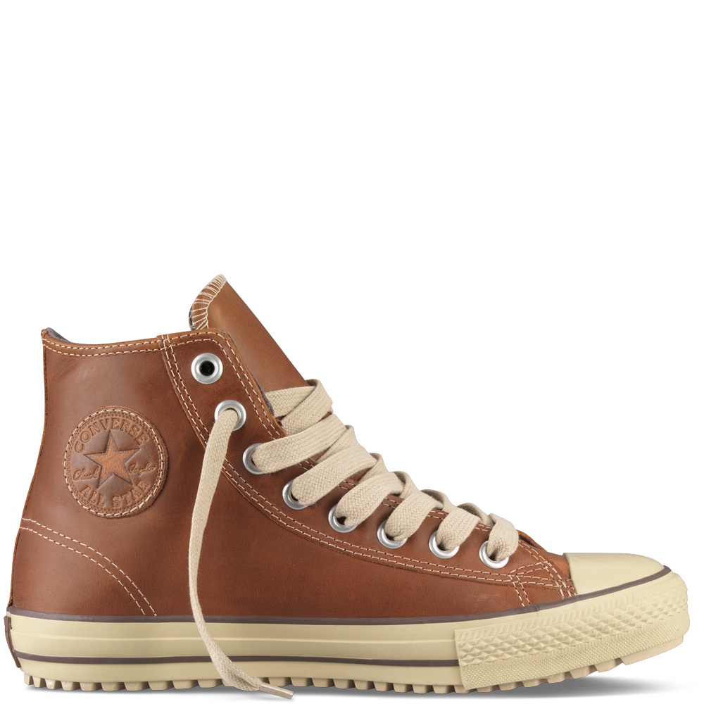 Converse Boot Hi Top, leather, in pinecone. | Converse boots