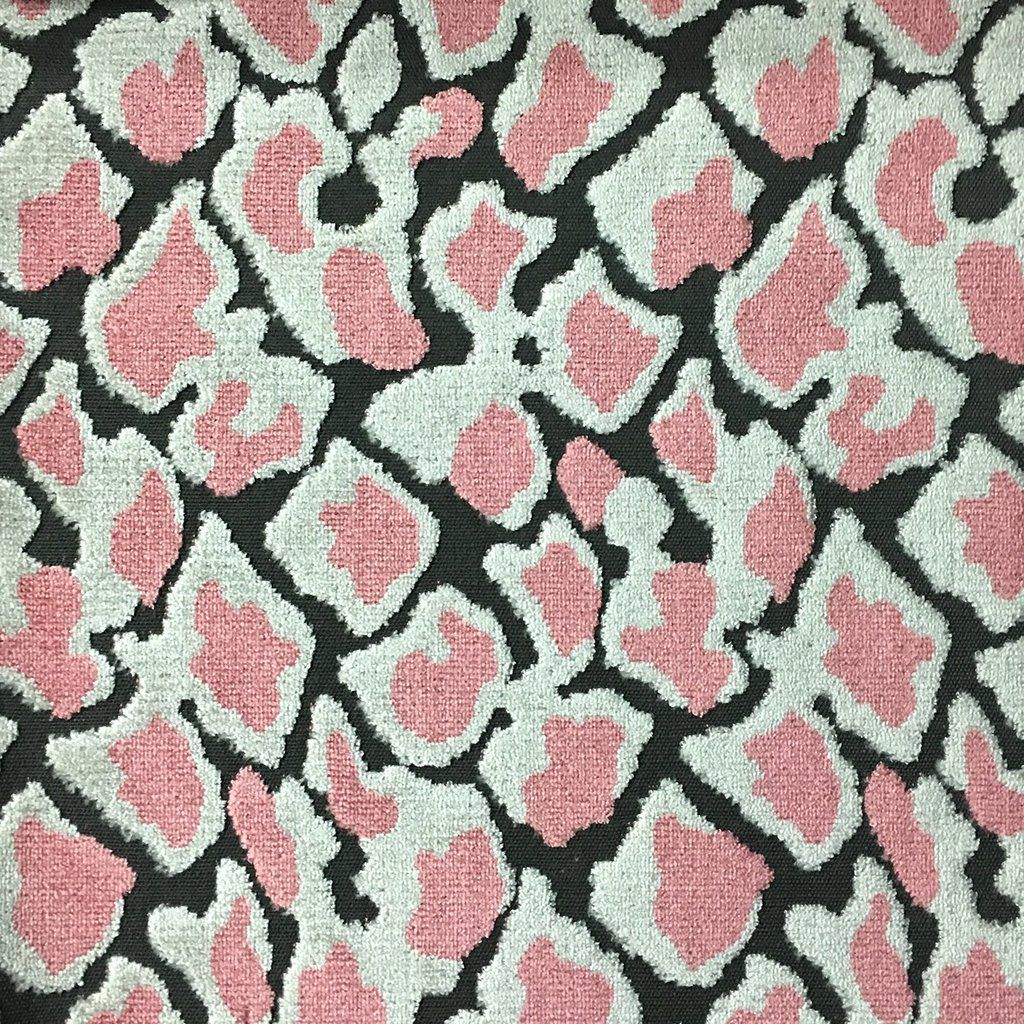Hendrix Leopard Print Cut Velvet Fabric Upholstery Fabric By The