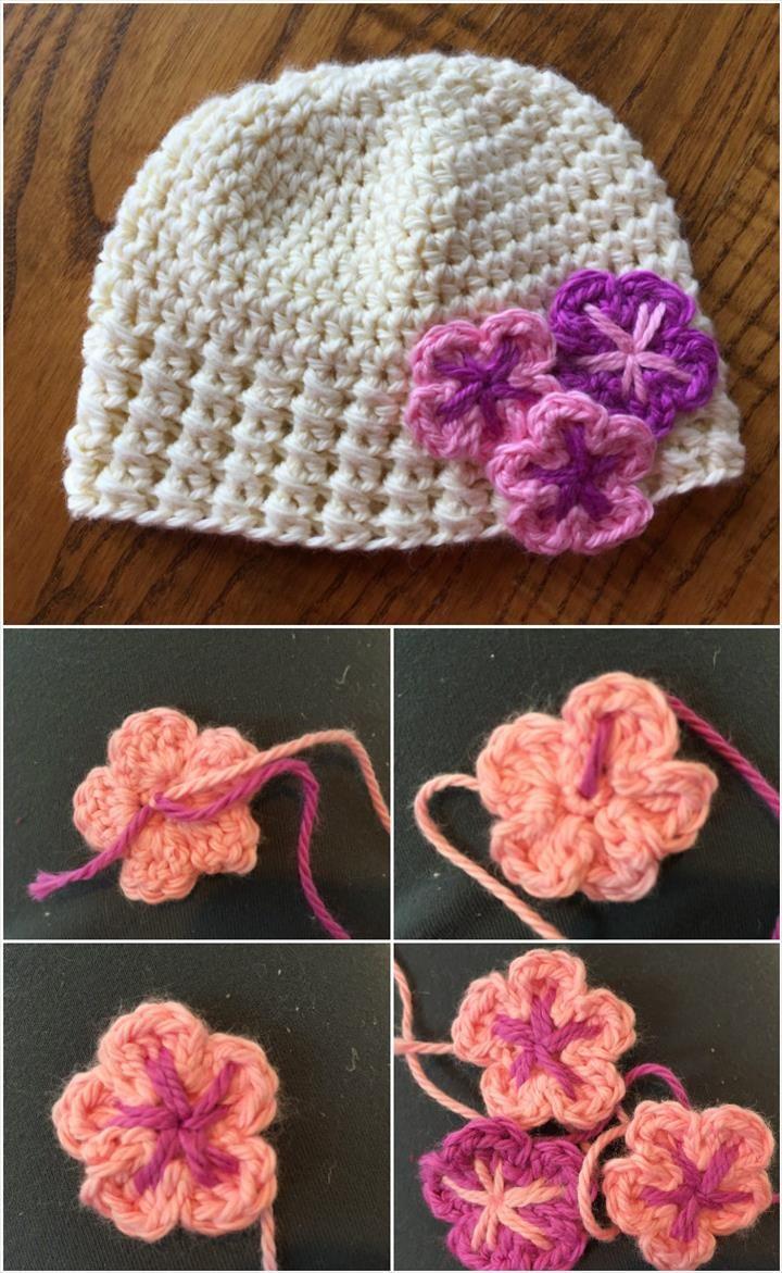 17 Free Crochet Baby Beanie Hat Patterns | Crochet baby beanie, Baby ...