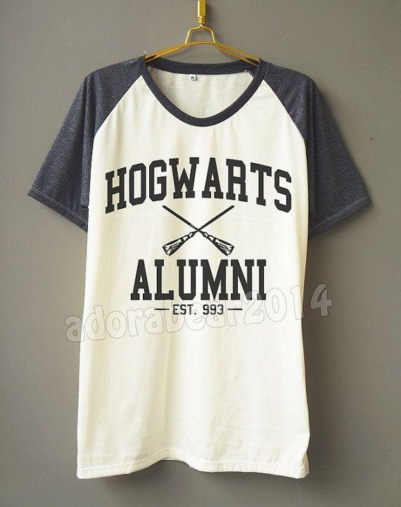 a9056631 Hogwarts Alumni T-Shirt Harry Potter T-Shirt Magic Spell T-Shirt Short  Sleeve Short Baseball Shirt Unisex T-Shirt Women T-Shirt Men T-Shirt
