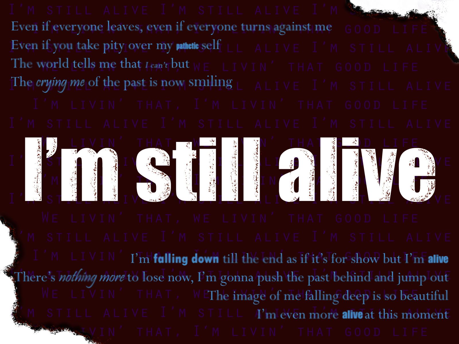 Image result for i'm alive quotes