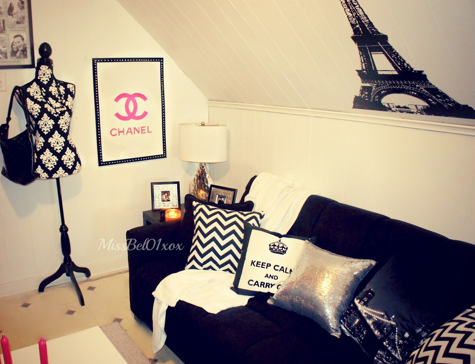 Chanel Themed Bedroom To Know Where I Bough My Decorations In My Bedroom Or Living Room