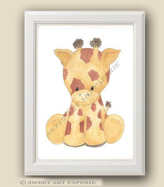 Baby Giraffe - Safari Nursery Art - Nursery Decor - PRINT - Safari ...