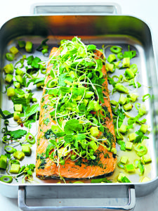 Photo of Oven-Roasted Salmon with Dill: The Scandinavian Belly Fat Program – Berit Nord…
