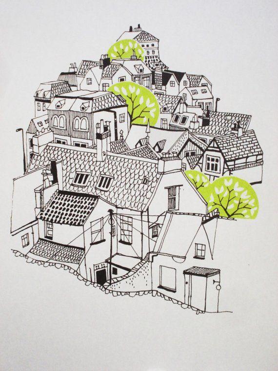 마을 펜아트