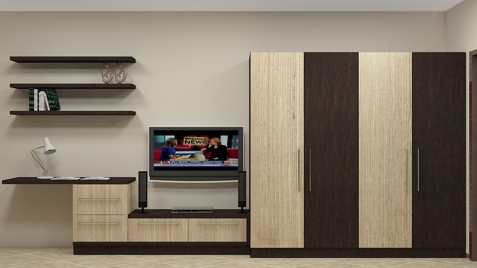 Image Result For Tv Units With Wardrobe Bedroom Rahul - Bedroom wardrobe designs with tv unit