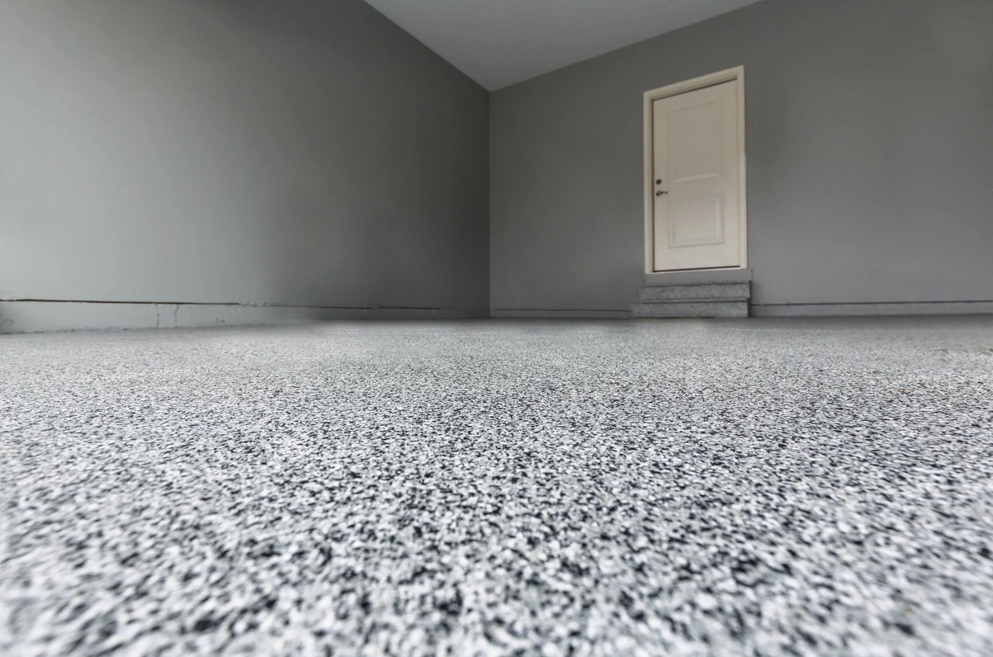 Black White Grey Epoxy Garage Flooring Des Moines IA