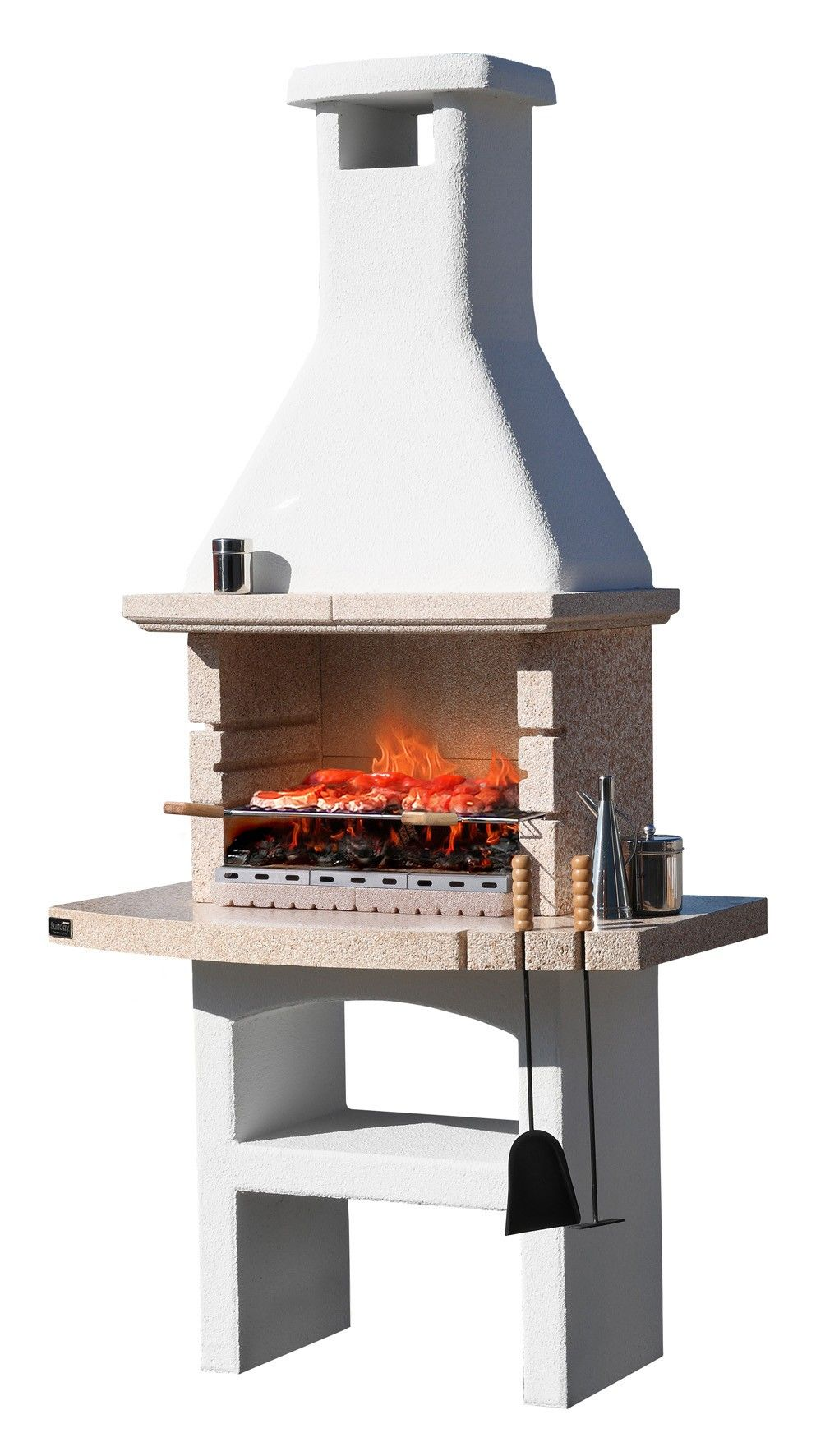 Justmoment barbecue in muratura desert 07 con cappa forno - Barbecue in muratura con forno ...