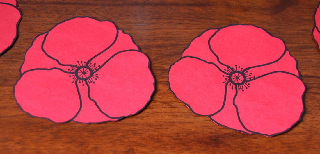photo about Poppies Printable identified as Free of charge Remembrance Working day poppies printable template craft