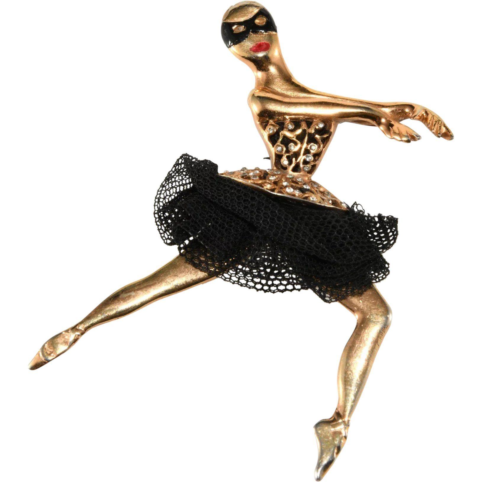 Ballerina Dancer Pendant Necklace Gift boxed for Dancer Enamel /& Crystal Dress