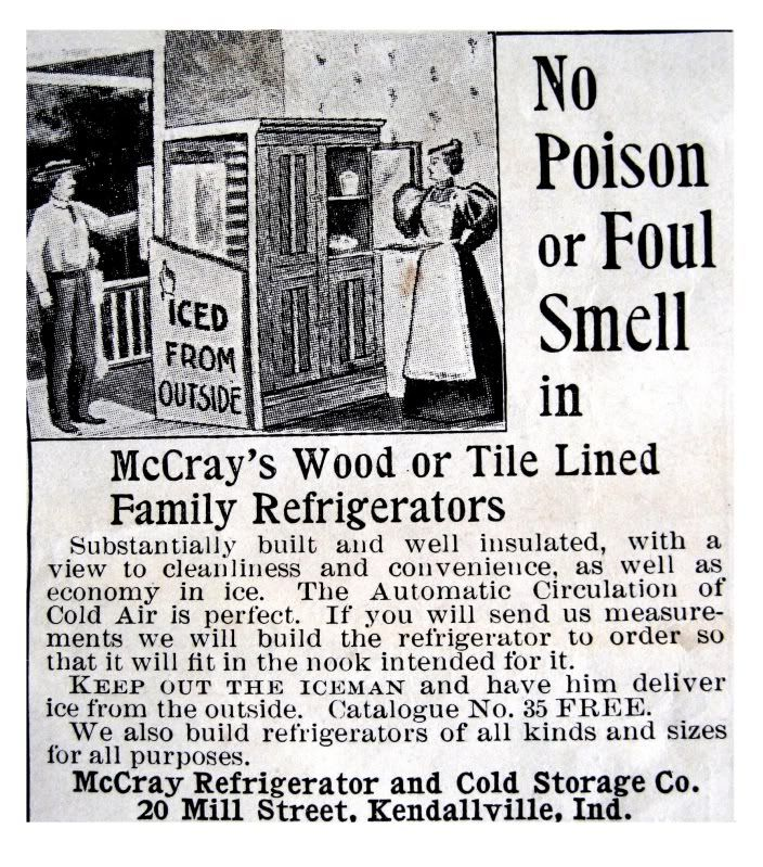 Back In The Day Better Quality Iceboxes Had A Little Service Door In The Rear It Was Called A Service Door This Family Refrigerator Modern House Ice Houses