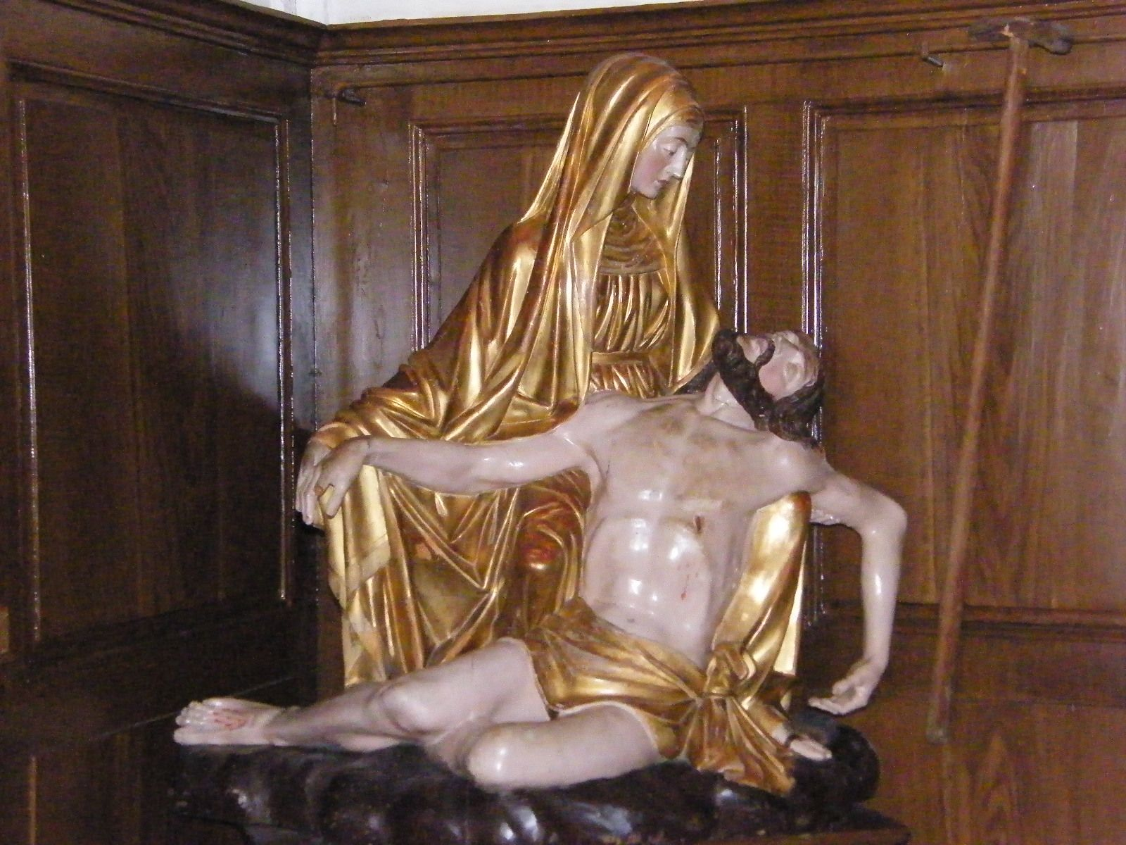 france - ars - near lyon - st.john vianney church - incorrupt body of st.john vianney - some patient left his walking stick here because he can walk by himself