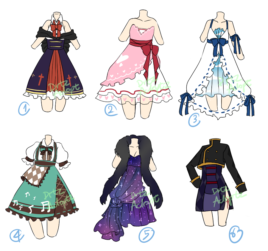 Adoptable Random dresses [2/6 OPEN] by DrtzAdopt