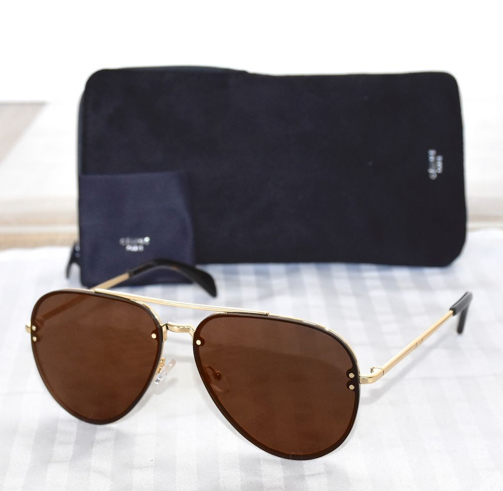 0b4f384819 NEW CELINE CL41391S J5G LC GOLD FRAME BROWN MIRRORED AVIATOR SUNGLASSES.  60X13  Celine  Aviator
