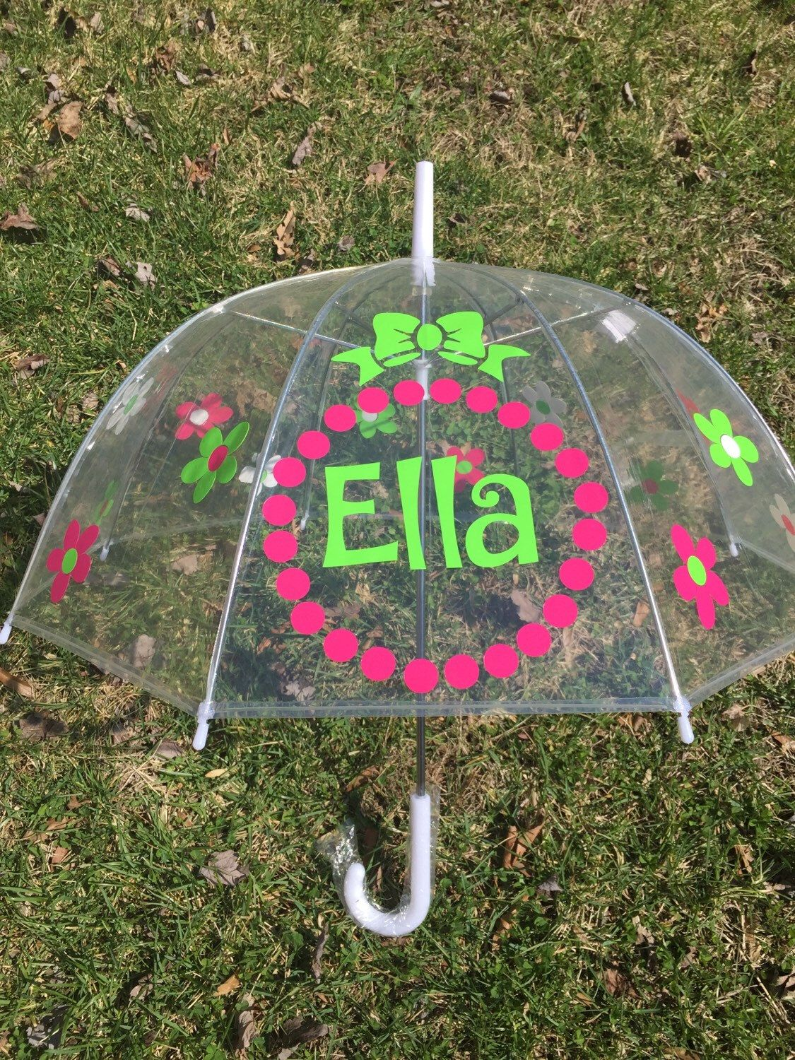 Monogrammed Umbrella And Child Size