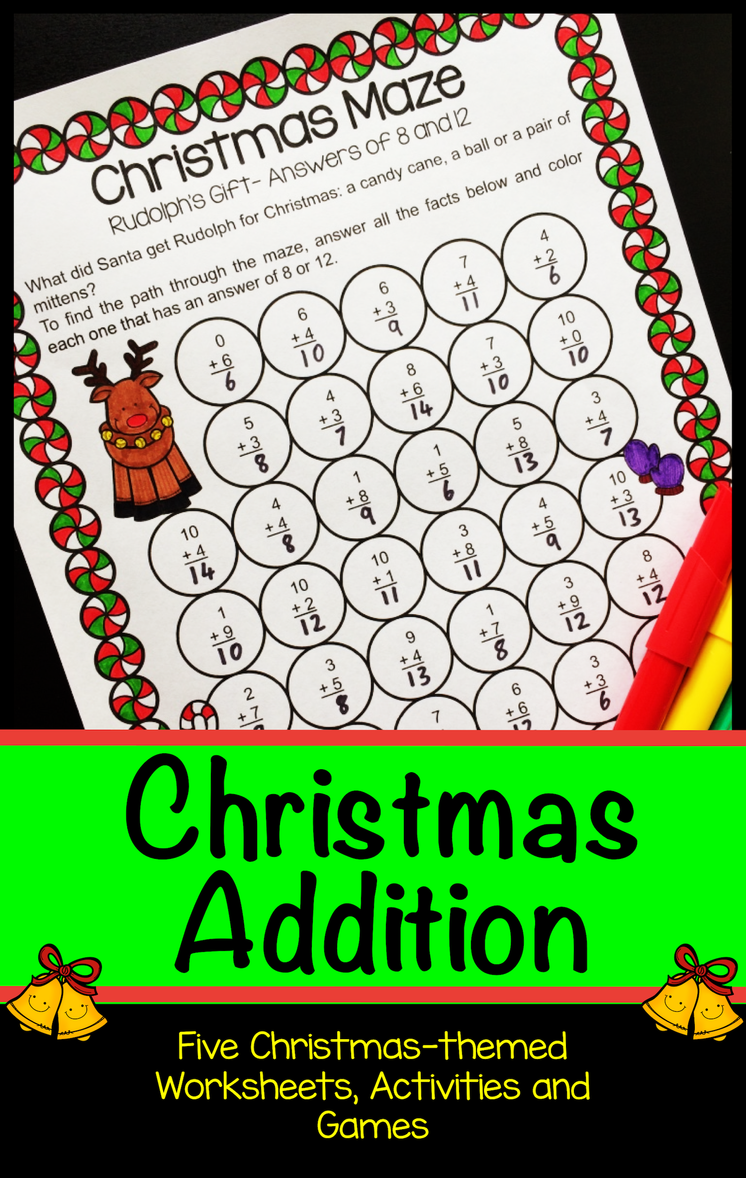 Need Some Last Minute Christmas Math Worksheets And Activities Kids Will Love These No Prep Except F Christmas Math Christmas Math Activities Math Worksheets [ 2366 x 1500 Pixel ]