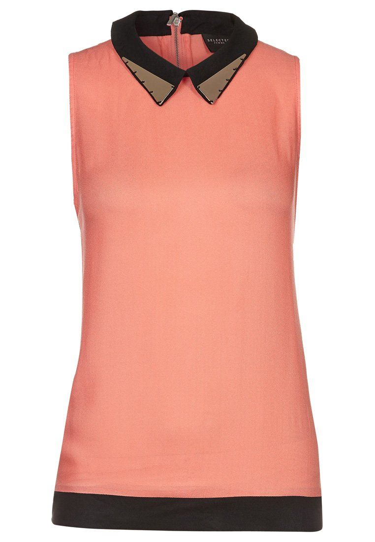 Selected Femme - PAULA - Tunika - oransje