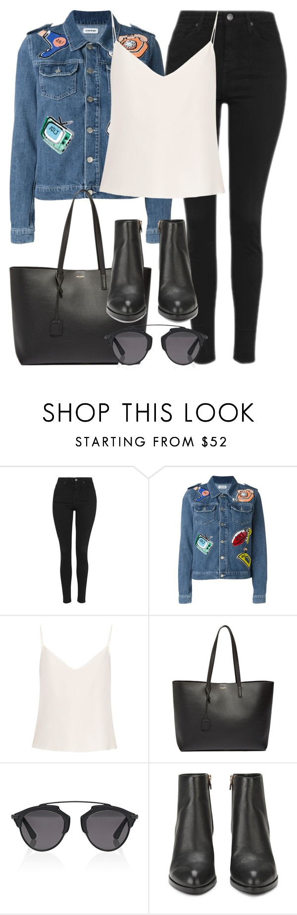 """""""Untitled #2754"""" by elenaday ❤ liked on Polyvore featuring Topshop, Au Jour Le Jour, Raey, Yves Saint Laurent, Christian Dior and Alexander Wang"""