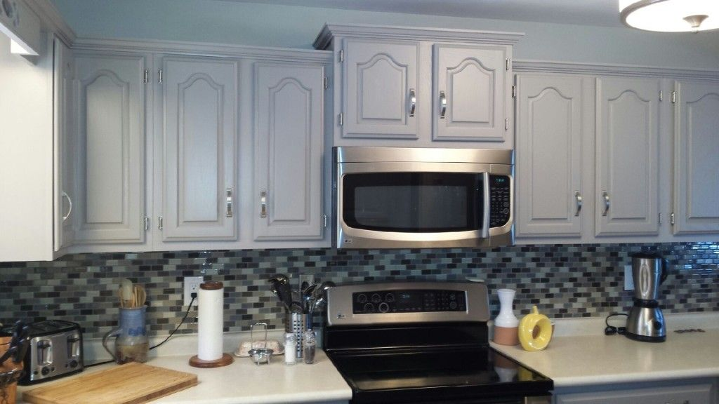 Oak Cathedral Cabinets Painted Painting Kitchen Design