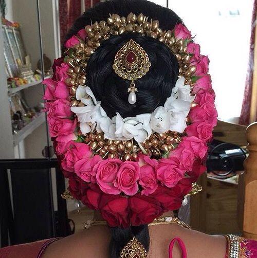 Wedding Hairstyle In Tamil: Beautiful Tamil Bridal Flower Hair Do