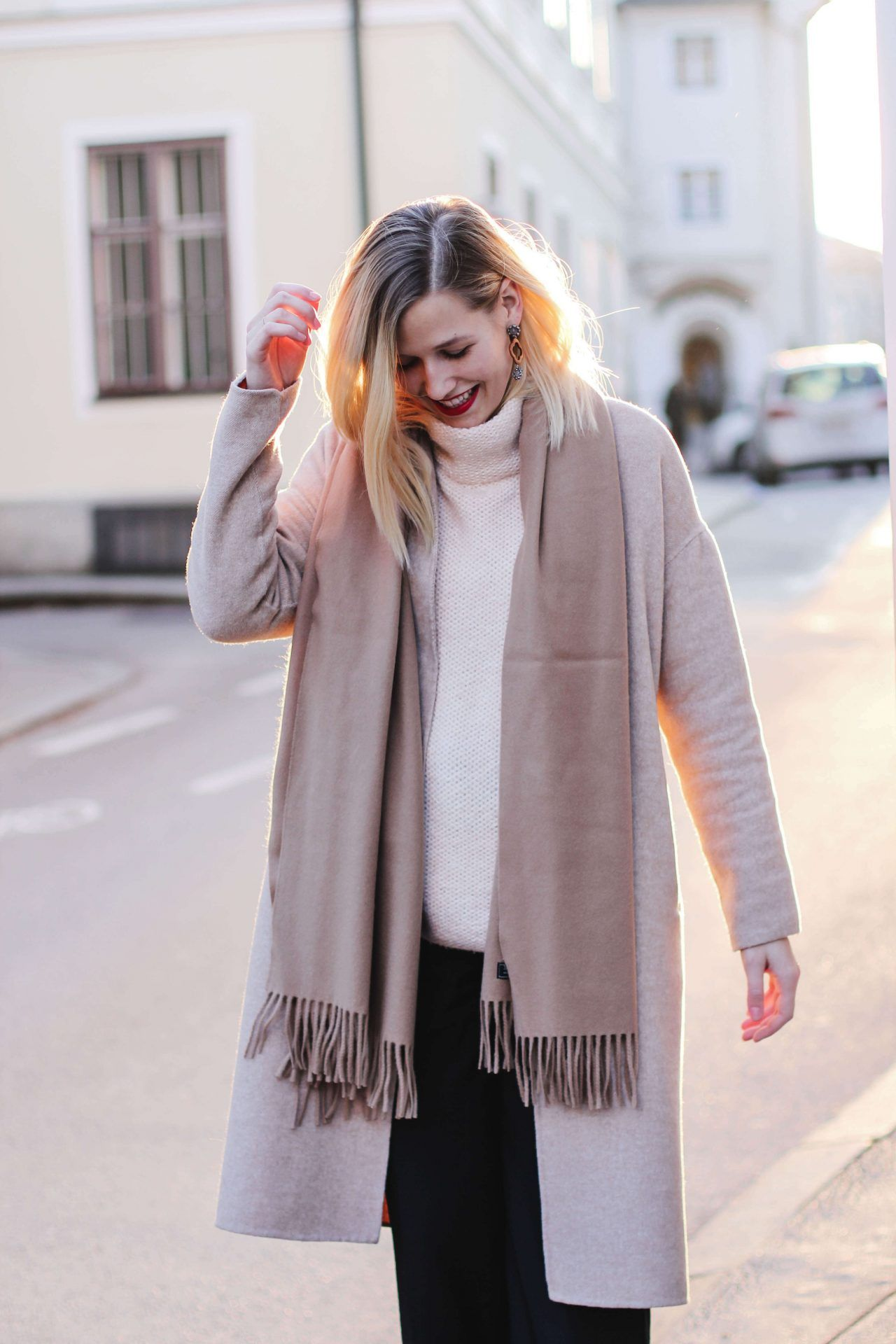 tifmys – Coat, culottes and turtleneck sweater: Zara | Scarf: Acne ...