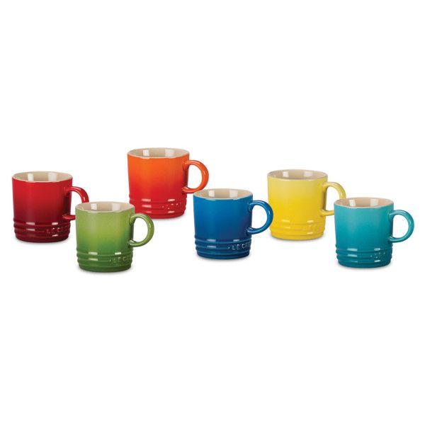 Canopy Co Le Creuset Stoneware Espresso Mugs Rainbow Assortment Set Of 6 60 On Amazon Mugs Le Creuset Stoneware Creuset