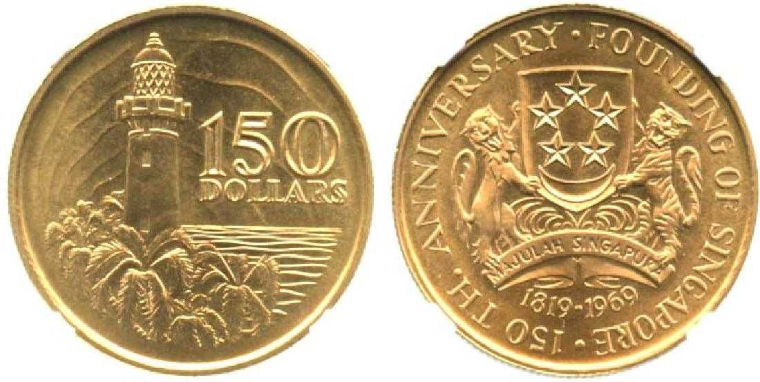 Singapore 1st Gold Coin Of Singapore Gold Coins Coins Gold