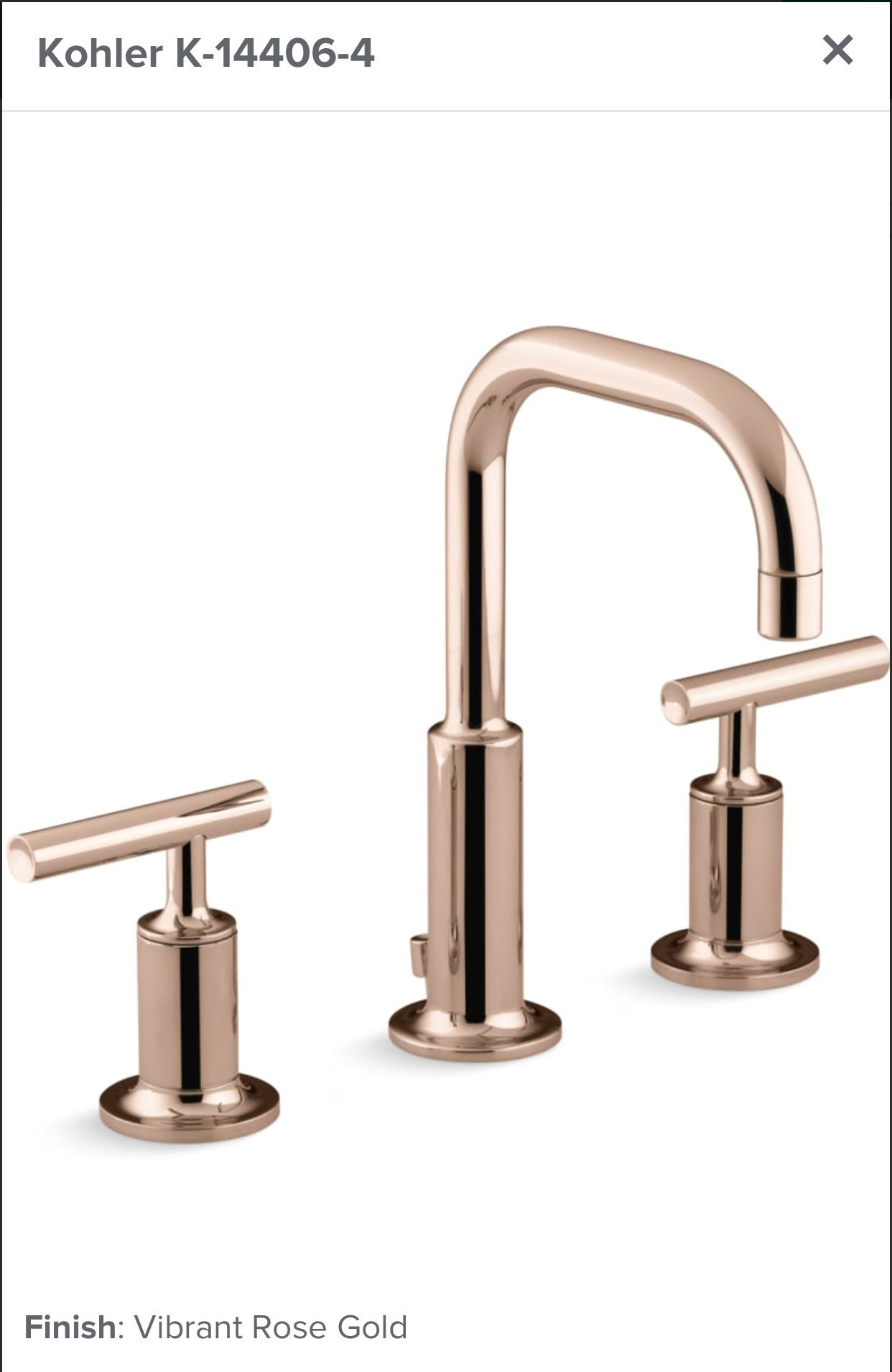 Kohler Purist In Vibrant Rose Gold Finish Bathroom Faucets