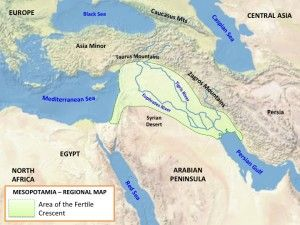Map of the Fertile Crescent  World History Maps  Pinterest  History