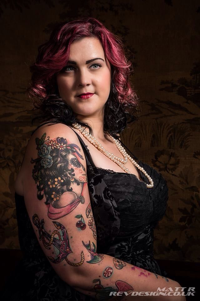Model, Plus Size, Tattoo, Alternative