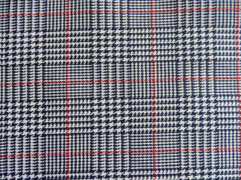 houndstooth sofa fabric bettsofas navy blue white red plaid apparel home