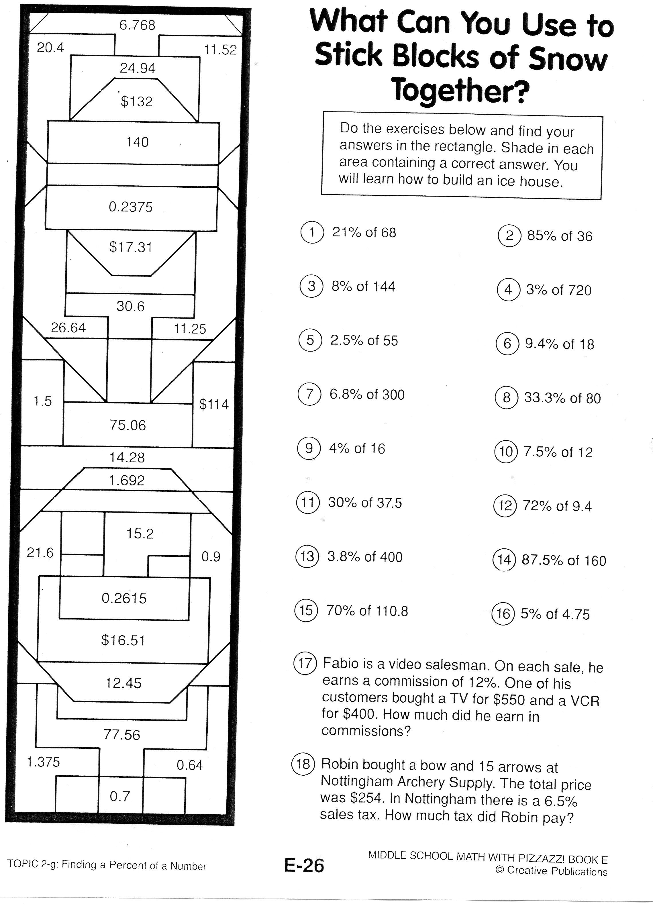 7th Grade Math Puzzles