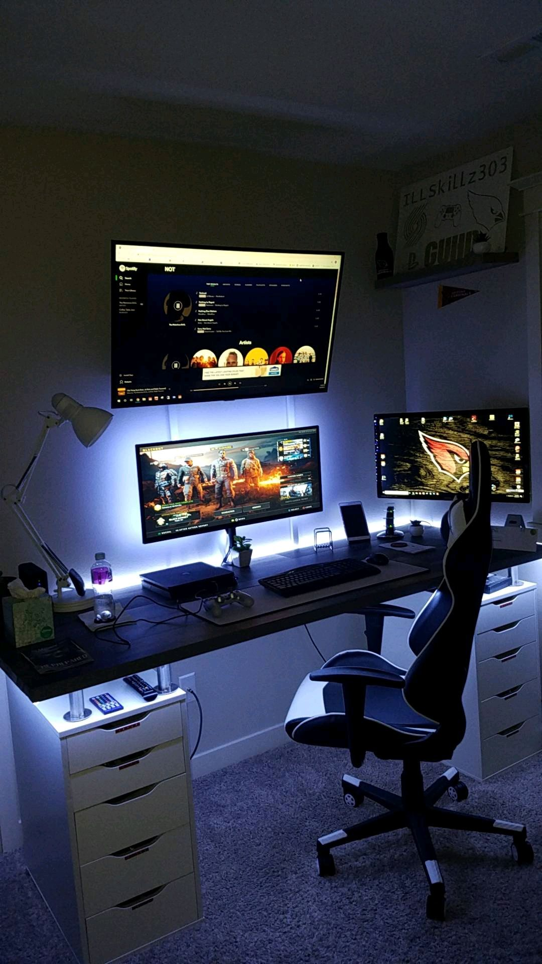 Night mode Video game room design, Cool bedrooms for