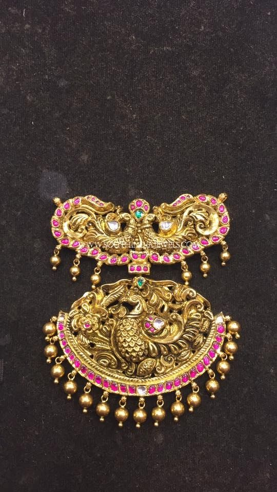 Gold antique pendant for long harams pinterest jewel indian gold antique pendant for long harams gold antique pendant designs for long chains aloadofball Image collections