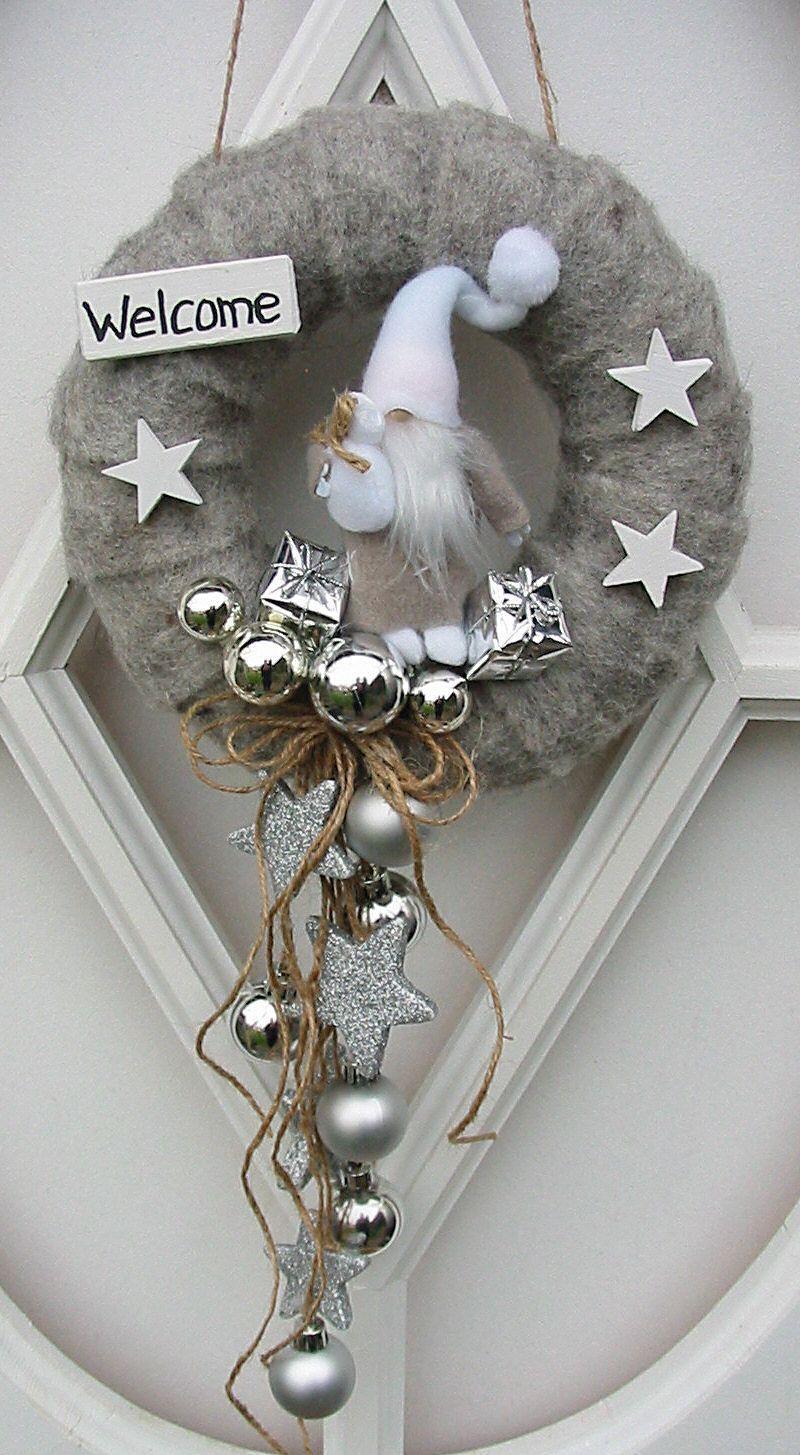Türkranz Weihnachtswichtel Weihnachtskranz Türdeko Dekohänger Filz grau 22 cm | eBay #adventskranzgrau Türkranz Weihnachtswichtel Weihnachtskranz Türdeko Dekohänger Filz grau 22 cm | eBay #adventskranzgrau