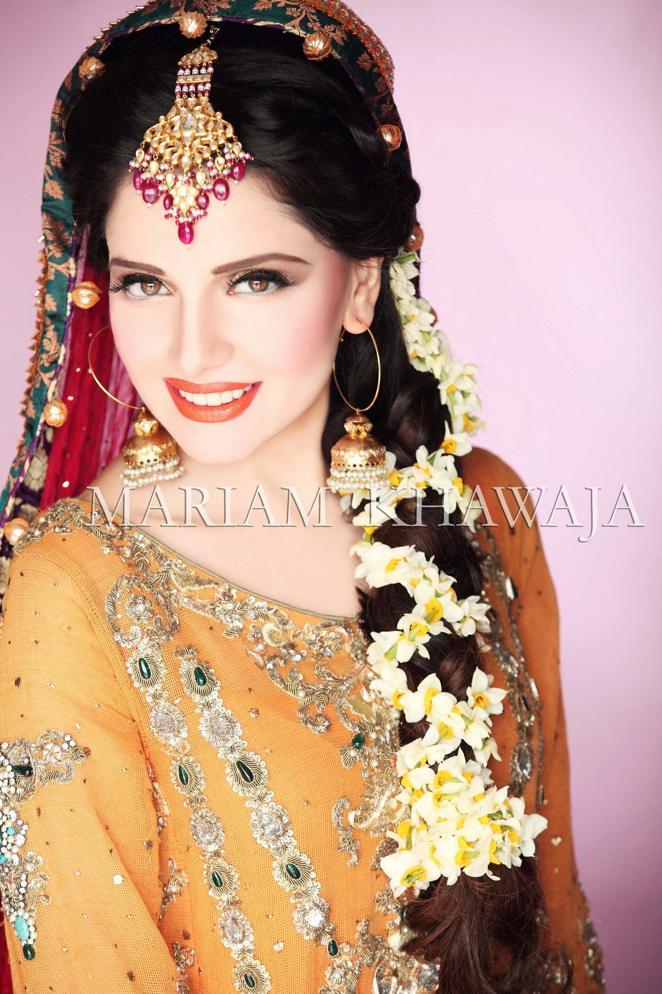 Adorned for Mehndi , makeup by Mariam khawaja