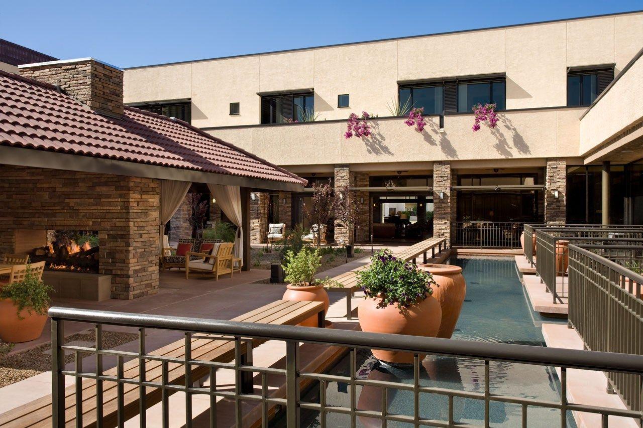 Modern Senior Living Nursing Home Dallas Tx Sirious Xm Radio Host Senior Living Courtyard Cafe Atria Senior Living