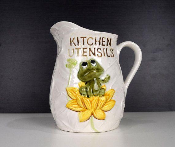Neil The Frog Kitchen Utensils Holder Or Jug Sears