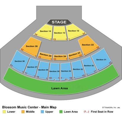 Blossom music center seating blossom music center seating chart