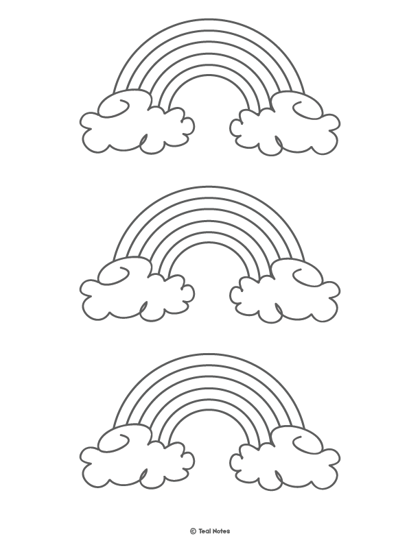 Rainbow Template Free Printable Rainbow Outline And Rainbow Coloring Page Coloring Pages Templates Printable Free Free Stencils