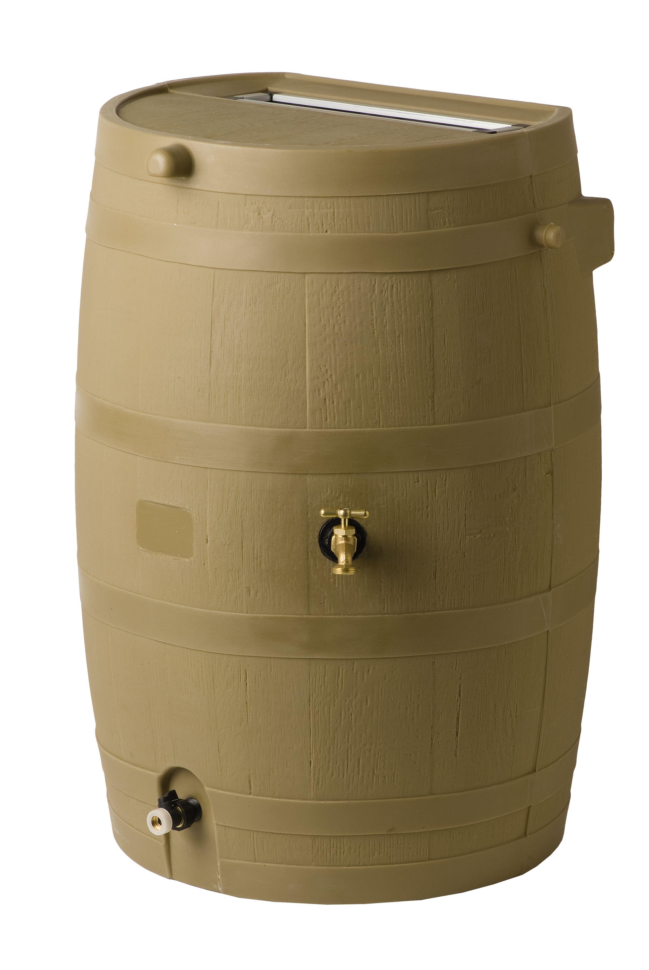 Flat-Back Rain Barrel | Rain barrels | Pinterest | Barrels, Rain ...